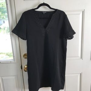 Madewell Black shift dress